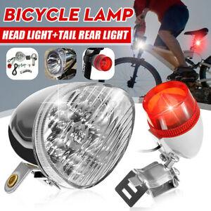 Bicycle Motorized Friction Generator LED Head light bulb Tail Light Set 12W 6V