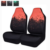 Universal Car Seat Covers Fashion Black Orange 2 Front for Truck SUV VAN SEDAN