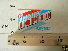 STICKER,DECAL VERONICA DE NEDERLANDSE TOP 40, NOT 100 % OK A