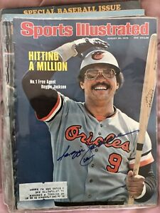 1976 Sports Illustrated Reggie Jackson Baltimore Orioles Signed Autograph Mag