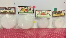 Vintage Darice Lot Assorted Plastic Canvas Shapes for Crafting or Needlepoint