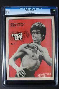 LEGEND OF BRUCE LEE 1 Photo cover 1983 B&W Nostalgia Comic Magazine CGC NMMT 9.8