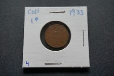 A-39 1933 Canada 1 Cent George V Canadian Penny Copper Coin RCM