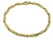 "14k Yellow Gold Nugget Bracelet 7"" 4mm 9.5 grams"