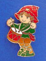Hallmark PIN Christmas Vintage DRUMMER BOY Cloisonne ENAMEL Holiday Brooch