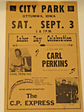 "Carl Perkins ""Blue Suede Shoes"" Original 1977 Concert Poster"