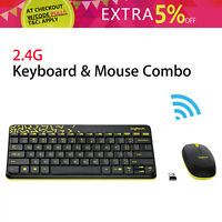 Wireless Logitech MK240 NANO Keyboard and Mouse Pack Set 1000dpi Gaming Usage