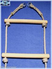 Strickleiter mit Eschenholz-Sprossen 2,0m lange Leiter, Polyhanfseile 12mm