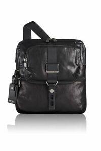 New TUMI ALPHA BRAVO Arnold Leather Zip Flap Leather