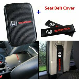 For HONDA Racing New Car Center Console Armrest Cushion Mat Pad Cover Combo Set