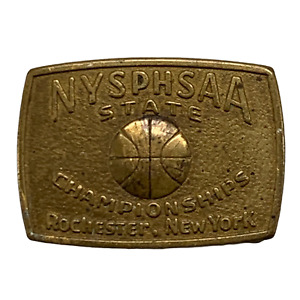 Vintage NYSPHSAA State Basketball Championships Belt Buckle Rochester NY