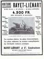 1910 Publicite Automobile SCAR, RAYET-LIENART 9-10 cv- Witry-les-Reims