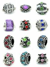 Authentic Pandora Charms Ten Assorted Crystal Rhinestone Bead Charm Spacers new!