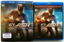DC COMICS THE FLASH COMPLETE SECOND SEASON BLU RAY + SLIPCOVER FREE SHIPPING