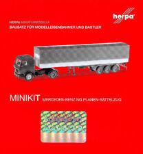 HERPA MiniKit 1:87 LKW MERCEDES-BENZ NG Planen-Sattelzug Bausatz BLAU #012782