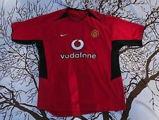 MEN'S NIKE Manchester United 02/03 Home Football Soccer Jersey VODAFONE Large L