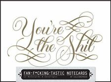 Fan-fucking-tastic Notecards: 12 Notecards & Envelopes, , Calligraphuck, Very Go