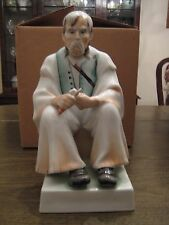 Zsolnay, Bacon/Wood Carver Old Man, Hungarian, large porcelain figurine