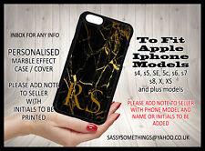 Personalised Marble Initial Monogram Custom Phone Case For iPhone Assorted Model