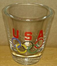 Olympic rings team USA shot glass by Hunter ONLY ONE ON EBAY!