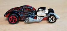 Vintage Diecast sports car 2002 Black Widow 1/4 Mile Coupe Spider Hot Wheels htf