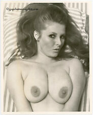 """Bunny Yeager Vintage 1970 8"""" X 10"""" Photograph Sultry Busty Model Dale Stevens"""