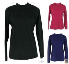 Cotton Long Sleeve Turtleneck Tops for Women