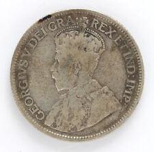 1936 Canada Silver 25 Cent George V Km24a W/Dot - VG #01281898g