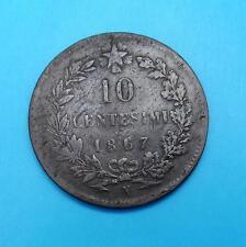 ITALIEN 10 CENTESIMI 1867 N ☆ KM# 11.4