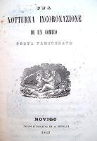 1843 POEMA ANONIMO STAMPATO A ROVIGO 'UNA NOTTURNA INCORONAZIONE