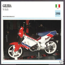 1990 Gilera 50cc Bullit (49.6cc) Italy Bike Motorcycle Photo Spec Info Stat Card
