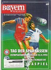 Bayern Magazin 7/46 , Bayern München - Schalke 04 , 12-11.1994