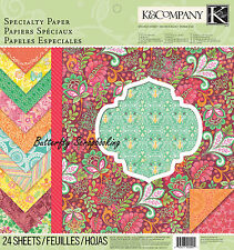 Handmade Special Scrapbooking 12x12 Specialty Paper Pad 28 Sheets K&Company NEW