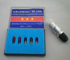 1x Messerhalter  + 5 x45° Plottermesser Graphtec CB15 Blades Cutter Plotter
