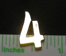 NUMERICAL LAPEL PIN EDUCATIONAL NUMERIC PIN NUMBER #4