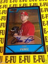 2007 Bowman Chrome CHRIS PEREZ Autograph # BC224 St. Louis Cardinals Auto