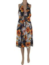 abito vestito donna ginocchio floreale stretch taglia s / m small medium