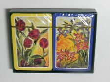 Playing Cards Claude Monet Flowers Double Deck Sealed in Box