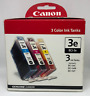 *GENUINE* Canon BCI-3E Color Multipack Ink Tank - 3 Ink Tanks One Each- C, M, Y
