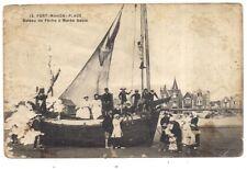 fort-mahon-plage  bateau de pêche à marée basse