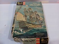 Rare Vintage Revell HMS VICTORY SET 1962 Lord Nelson Unmade Plastic Model Kit