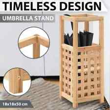 vidaXL Solid Walnut Wood Umbrella Stand Parasol Storage Rack Holder Organizer