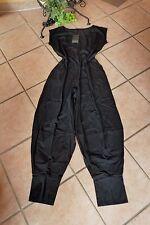 Boris Industries Jumpsuit Overall Pantaloni 48 50 (5) NUOVO Lagenlook Nero Stretch