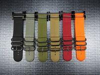New Suunto Core Nylon Strap Diver Watch Band Lugs Adapter Set Black PVD 3 Rings
