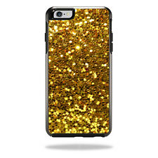 Skin Decal Wrap for OtterBox Symmetry iPhone 6 Plus/6s Plus Gold Glitter