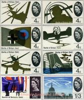 EBS Great Britain 1965 - 25th Anniversary Battle of Britain SET SG 671-678 MNH**