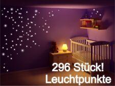 Wandtattoo 296 Leuchtpunkte Sterne Fluoreszierend nachtleuchtend Sticker GLOW