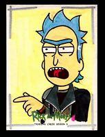 2020 Rick and Morty Season 3 Artist Sketch Card by Edward Santia Cryptozoic