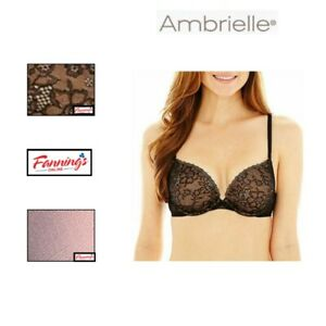 NEW!! Ambrielle Lace Plunge Push Up Underwire Convertible Bra  Variety  C41