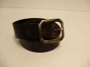 True religion genuine leather belt gunmetal buckle size 40 inch dark brown new